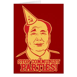 Pare la tarjeta de los Partidos Comunistas