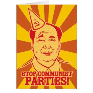 Pare la tarjeta de Mao del presidente de Partidos