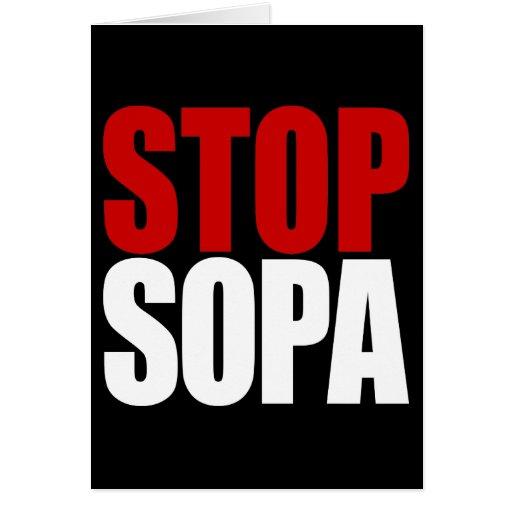 Pare la tarjeta de SOPA