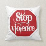 Pare la violencia almohadas