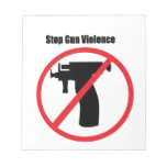 Pare la violencia armada bloc de notas