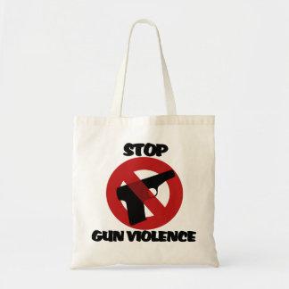 Pare la violencia armada bolsa tela barata