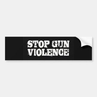 Pare la violencia armada pegatina de parachoque