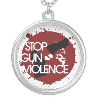Pare la violencia armada colgante redondo