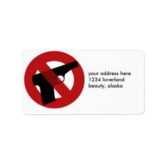 Pare la violencia armada etiquetas de dirección