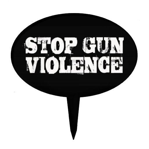 Pare la violencia armada figura para tarta