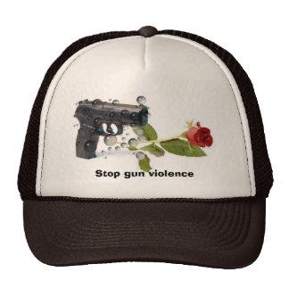 Pare la violencia armada gorro de camionero