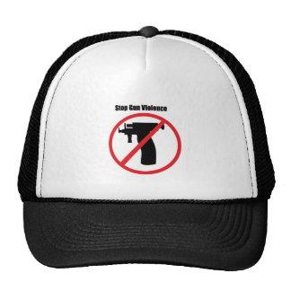 Pare la violencia armada gorros bordados