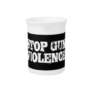 Pare la violencia armada jarras de beber