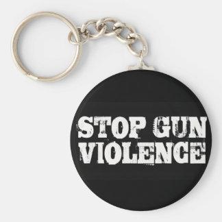 Pare la violencia armada llavero redondo tipo pin
