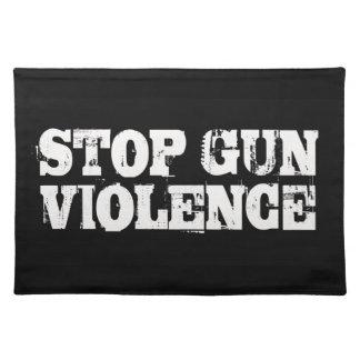 Pare la violencia armada mantel individual