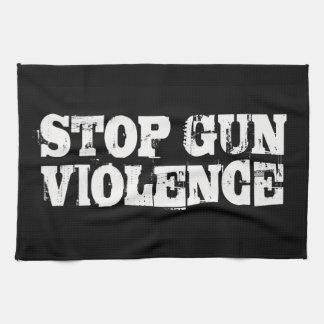 Pare la violencia armada toalla de mano