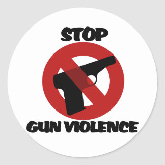 Pare la violencia armada pegatina redonda