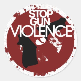 pare la violencia armada etiquetas redondas