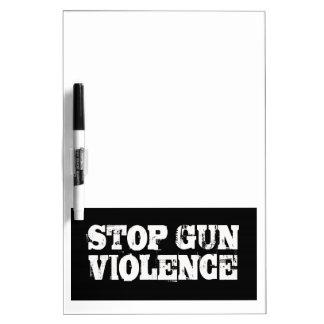Pare la violencia armada pizarras blancas