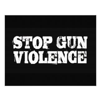 Pare la violencia armada plantilla de membrete