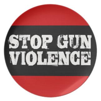 Pare la violencia armada platos de comidas