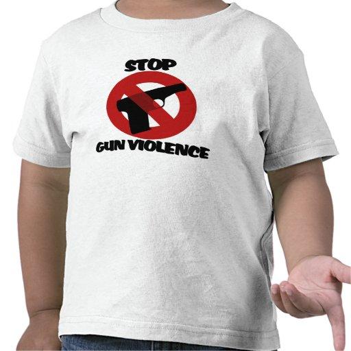 Pare la violencia armada camisetas