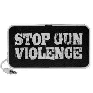 Pare la violencia armada portátil altavoz