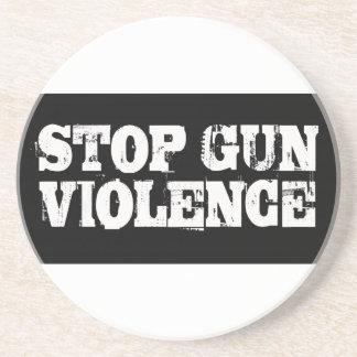 Pare la violencia armada posavaso para bebida