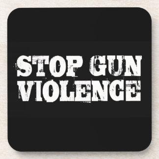 Pare la violencia armada posavasos de bebida