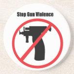 Pare la violencia armada posavasos personalizados