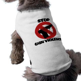 Pare la violencia armada camiseta de mascota