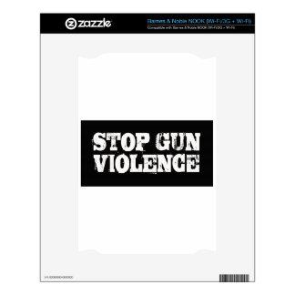 Pare la violencia armada NOOK calcomanía