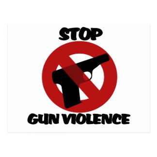 Pare la violencia armada tarjetas postales
