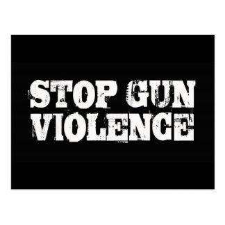 Pare la violencia armada tarjeta postal