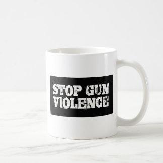 Pare la violencia armada taza básica blanca