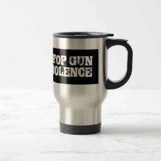 Pare la violencia armada taza de viaje de acero inoxidable