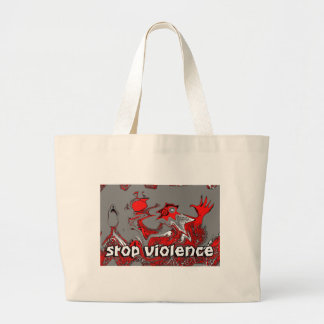 PARE LA VIOLENCIA BOLSA TELA GRANDE