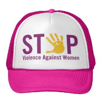 Pare la violencia contra mujeres gorros bordados