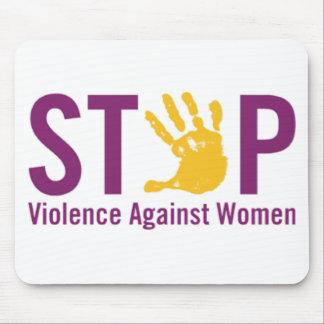 Pare la violencia contra mujeres tapetes de ratón