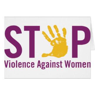 Pare la violencia contra mujeres felicitacion