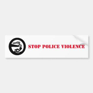 Pare la violencia de la policía pegatina para auto