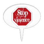 Pare la violencia decoraciones de tartas