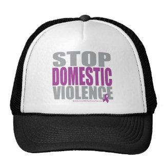 Pare la violencia en el hogar gorros bordados
