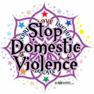 Pare la violencia en el hogar Lotus Escultura Fotográfica