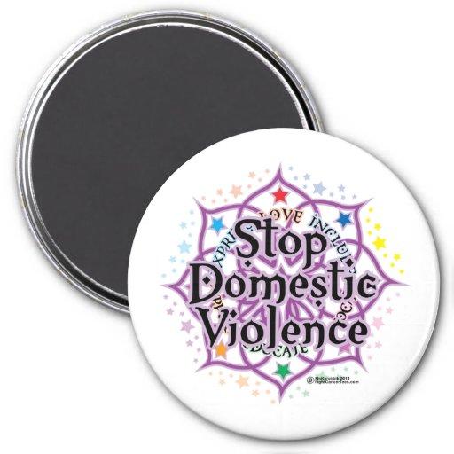 Pare la violencia en el hogar Lotus Imán Redondo 7 Cm