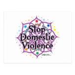 Pare la violencia en el hogar Lotus Postal