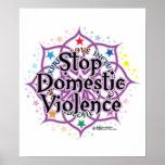 Pare la violencia en el hogar Lotus Poster
