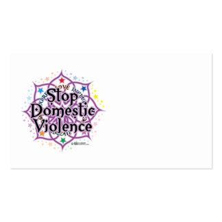 Pare la violencia en el hogar Lotus Tarjetas De Visita