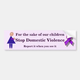 Pare la violencia en el hogar pegatina para auto