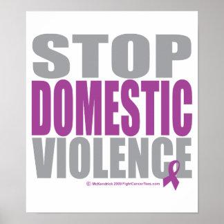 Pare la violencia en el hogar póster