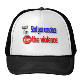 Pare la violencia gorros bordados