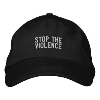 pare la violencia gorra de beisbol bordada