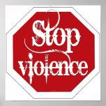 Pare la violencia impresiones
