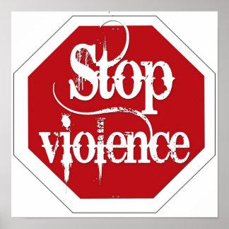 Pare la violencia póster